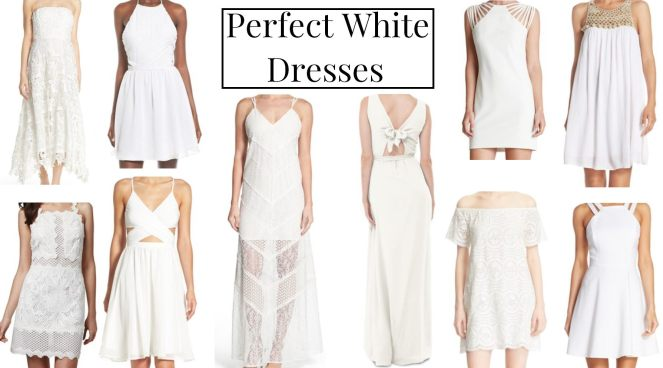 perfect white dresses