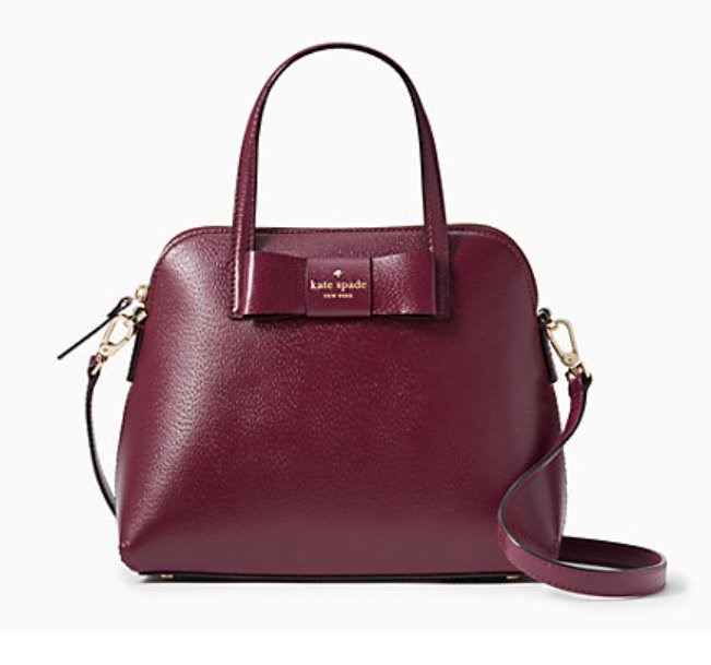 kate spade surprise sale best purses bags purse bag earrings scalloped hoop spade cutout hole punch bowler bag leather ostrich bow crossbody cross body bow purse burgundy green dark forest fall bow-back dress red satin holiday christmas present