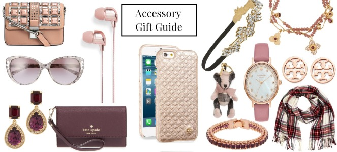 best accessory gifts presents christmas holiday season jewelry accessories h&m purse pink blush phone case tory burch kate spade maroon wallet scarf plaid preppy bracelet earrings henri bendel watch headband sparkly nordstrom burberry key chain keychain teddy bear sunglasses tortoise shell headphones earbuds ear buds gift guide