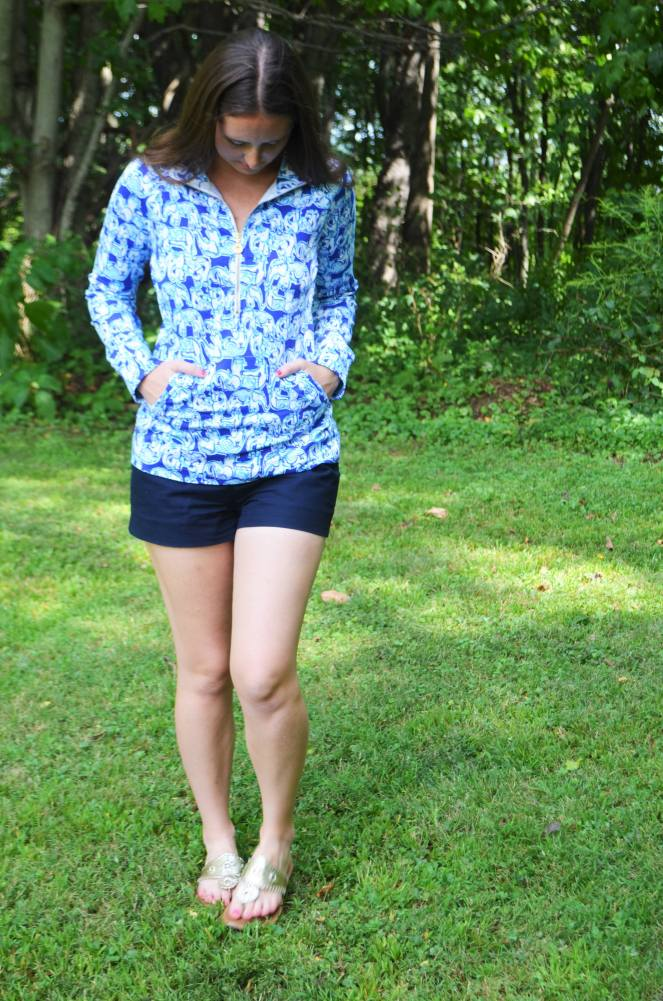 momentsofamermaid moments of a mermaid lilly pulitzer get trunky popover skipper ootd outfit of the day elephants style print fashion preppy classic summer spill the juice resort 2017 after party sale haul