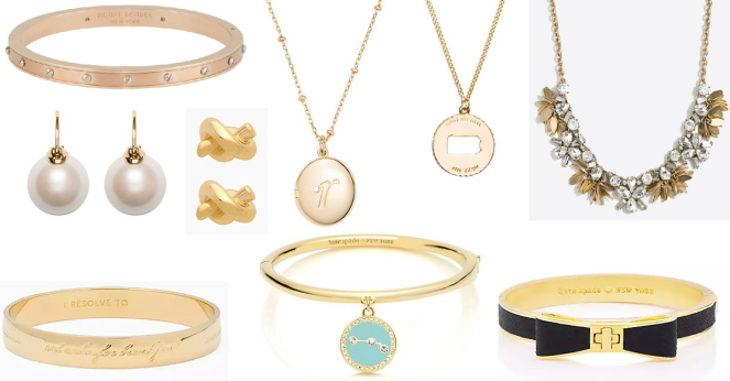 jewelry momentsofamermaid moments of a mermaid classic preppy blog blogger best everyday jewelry simple dainty pieces kate spade j crew henri bendel